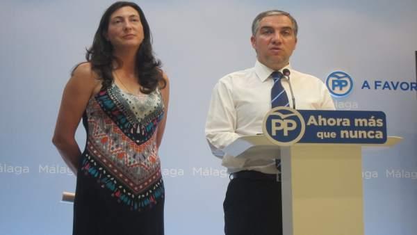 Dolores López y Elías Bendodo, PP-A
