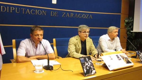 Salueña, Borque y Lacruz han presentado la muestra sobre Manuel Viola en la DPZ
