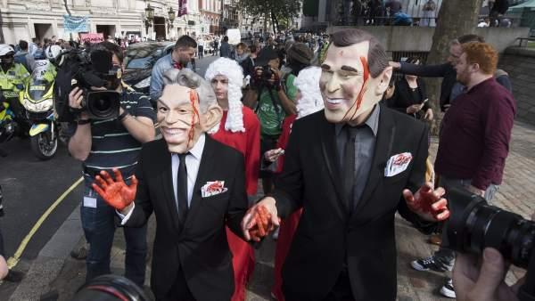 manifestación, informe Chilcot, guerra de Irak