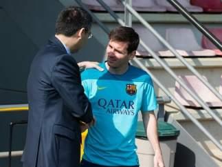 Josep Maria Bartomeu y Messi