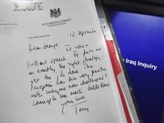 Informe Chilcot, guerra de Irak, carta Tony Blair