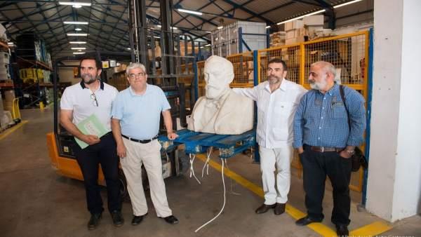 El alcalde de Cartagena con los artífices de la investigación