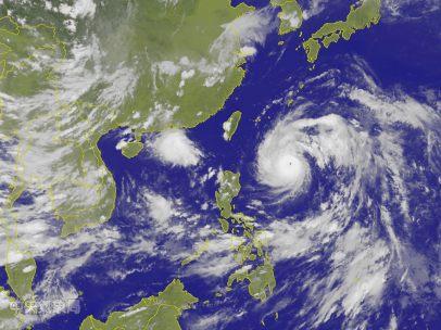 El tifón Nepartak, desde el espacio