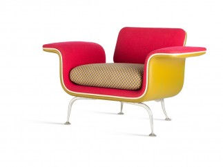 Alexander Girard, arm chair No. 66310, 1967, series production by Herman Miller Furniture Co.