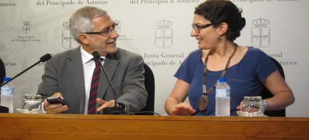 Gaspar Llamazares y Marta Pulgar.