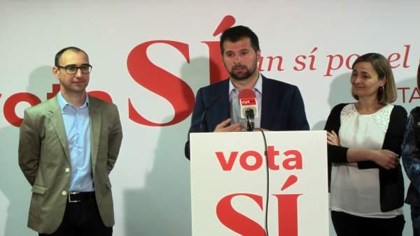 Tudanca en la sede del PSOE de Salamanca