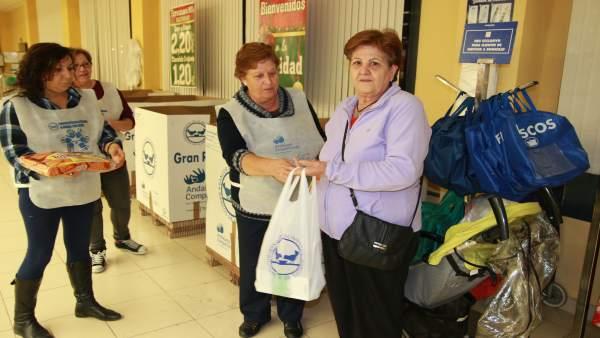 Gran Recogida de alimentos en Huelva.