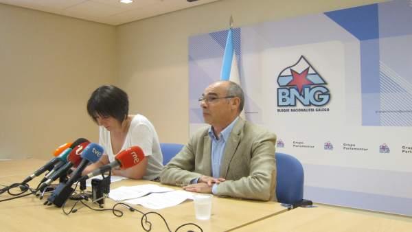 Ana Pontón y Francisco Jorquera (BNG)