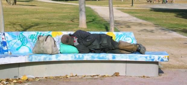 Vagabundo, pobreza, ciudad, parque