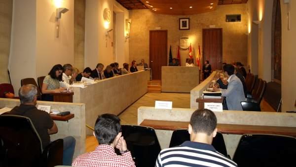 Sesión plenaria en el Ayuntamiento de Salamanca