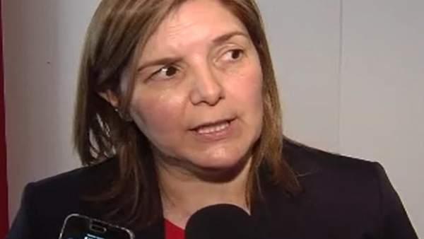 Pilar Cancela, presidenta de la gestora del PSdeG, en Madrid