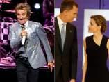 Rod Stewart y los reyes Felipe y Letizia