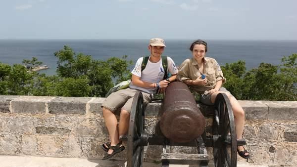 Los estudiantes murcianos Carlos Belmonte y Julia Coll
