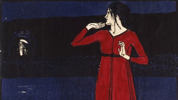 Erwin Lang, Grete Wiesenthal (Das rote Mädchen), um 1904