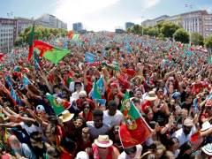 Lisboa celebra la victoria de Poertugal en la Eurocopa