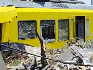 Colisión entre dos trenes en Italia