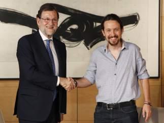 Reunión entre Rajoy e Iglesias