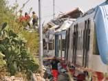 choque, trenes, Italia