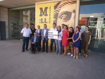 Miembros del Partit  Demòcrata Català en el Museu de Lleida