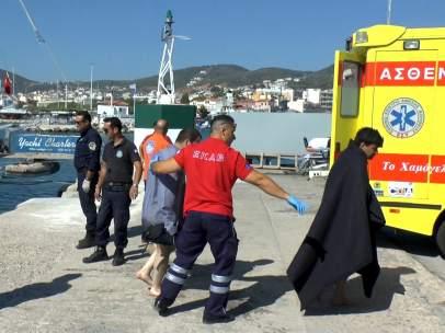 Inmigrantes Lesbos, Grecia