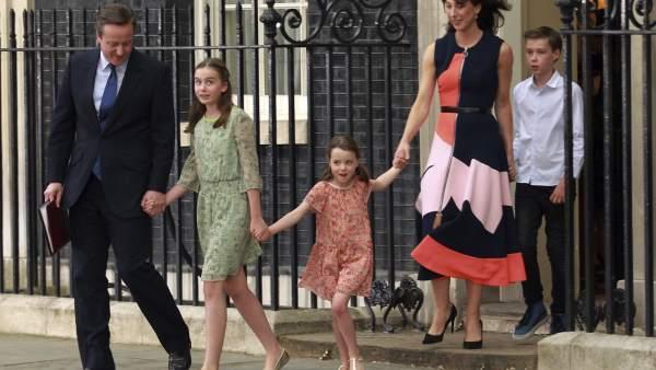 David Cameron y su familia