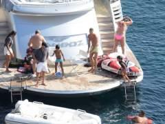 Cristiano Ronaldo, de vacaciones en un yate en Ibiza