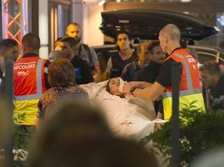 Una herida, atendida en plena calle