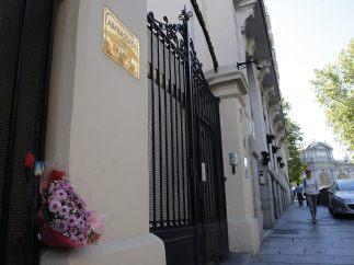 Flores por las víctimas