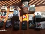 Parte de los 15.000 libros que han decomisado y que se encontraban en la librería Europa de Barcelona.