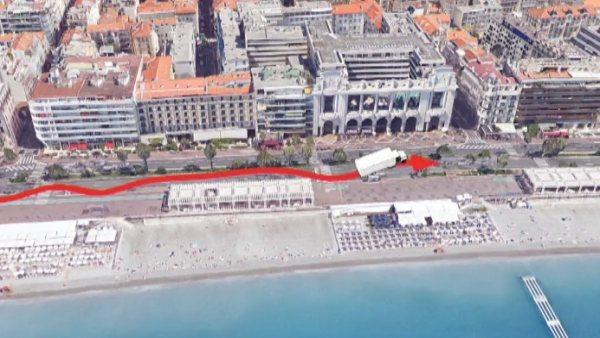 El recorrido macabro del terrorista por Niza