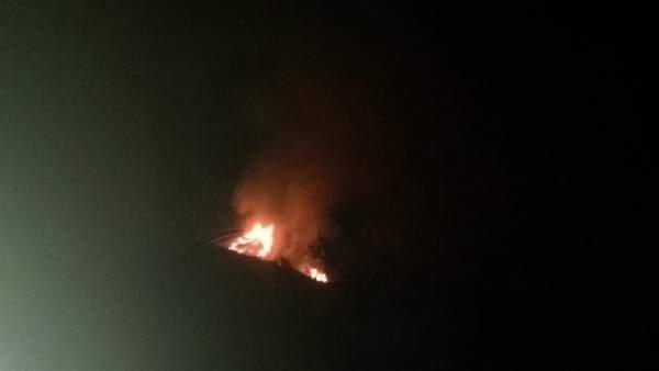 Fuego en Tejeda