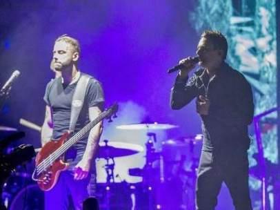 La banda Muse actuando en el FIB 2016.