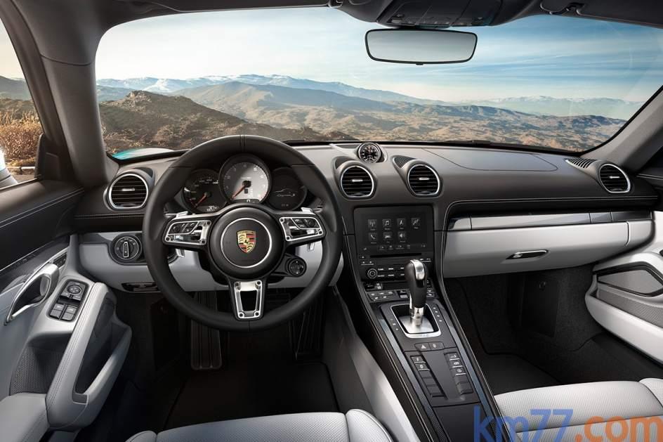 Interior del Porsche 718 Cayman
