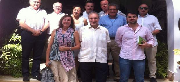 Reunión con el Embajador de España en Cuba, Juan Francisco Montalbán