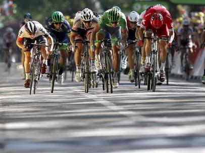 Esprint en el Tour con Sagan y Kristoff