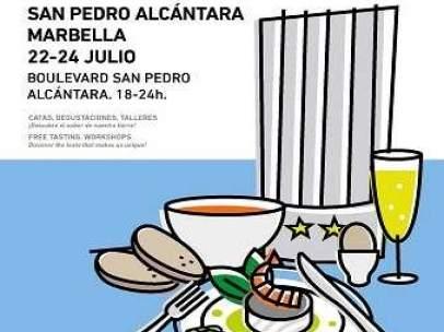Cartel de la Feria Sabor a Málaga en San Pedro, Marbella