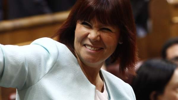 Micaela Navarro en el Congreso de los Diputados
