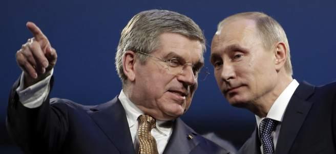 Thomas Bach y Vladimitir Putin