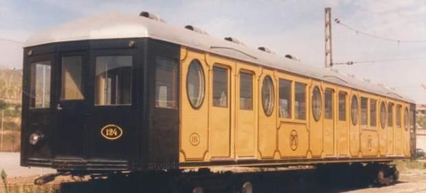 Vagón del Metro Transversal de Barcelona, de 1926.