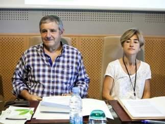 Patxi Elola, víctima de ETA, y Pili Zabala.