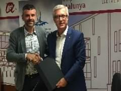 El conseller Santi Vila y el alcalde J.F.Ballesteros