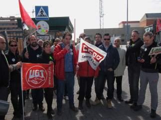 Concentración de los trabajadores de Lauki