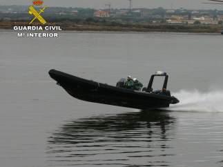 Embarcación de rescate de la Guardia Civil