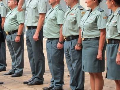 Pase de revista Guardia Civil. Foto de recurso