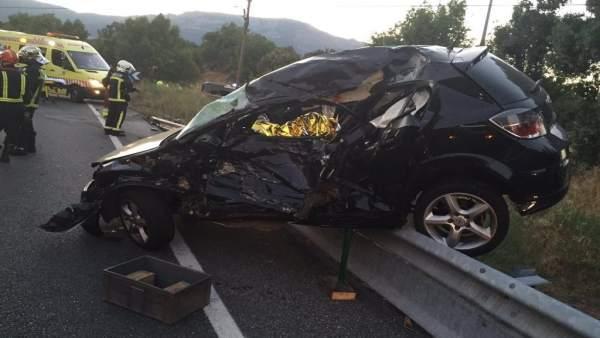 Dos fallecidos en un accidente en San Lorenzo de El Escorial