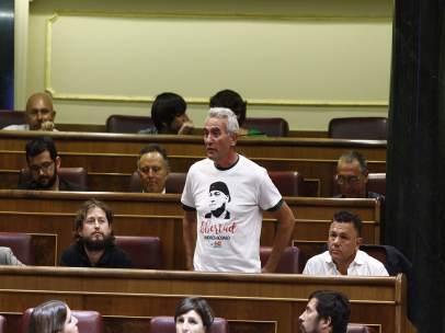 El diputado de Podemos Diego Cañamero en el Congreso