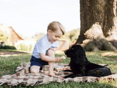 El príncipe Jorge cumple tres años