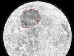 Un meteorito de 250 kilómetros creó una de las marcas más visibles de la Luna