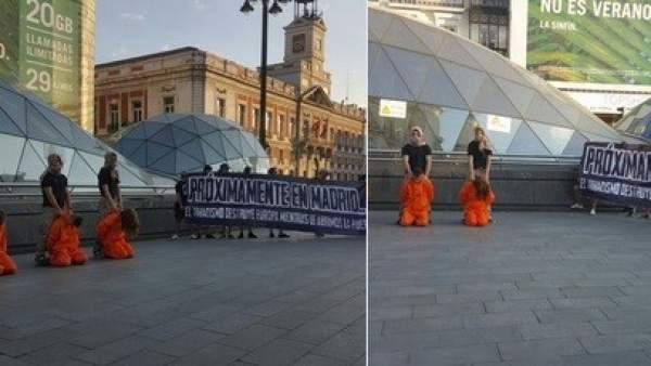 Simulación de ejecución yihadista en la Puerta del Sol