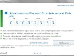 Cuenta atrás para cambiarse a Windows 10 gratis